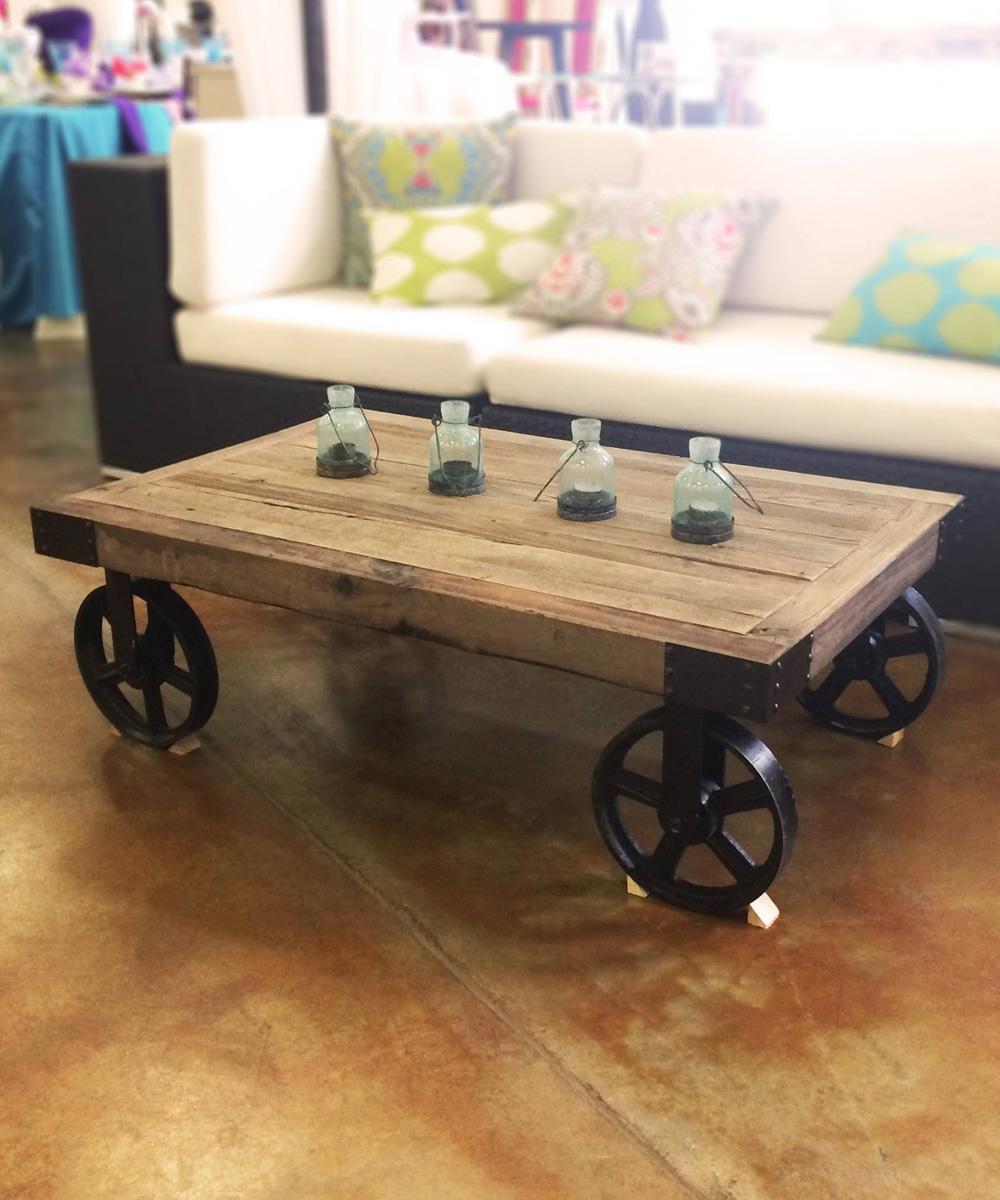Coffee table factory cart walker lewis rents coffee table factory cart geotapseo Images