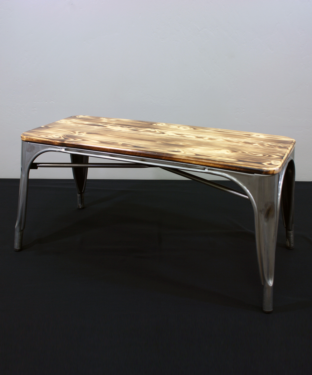 Awe Inspiring Metal Bench No Back Walker Lewis Rents Creativecarmelina Interior Chair Design Creativecarmelinacom