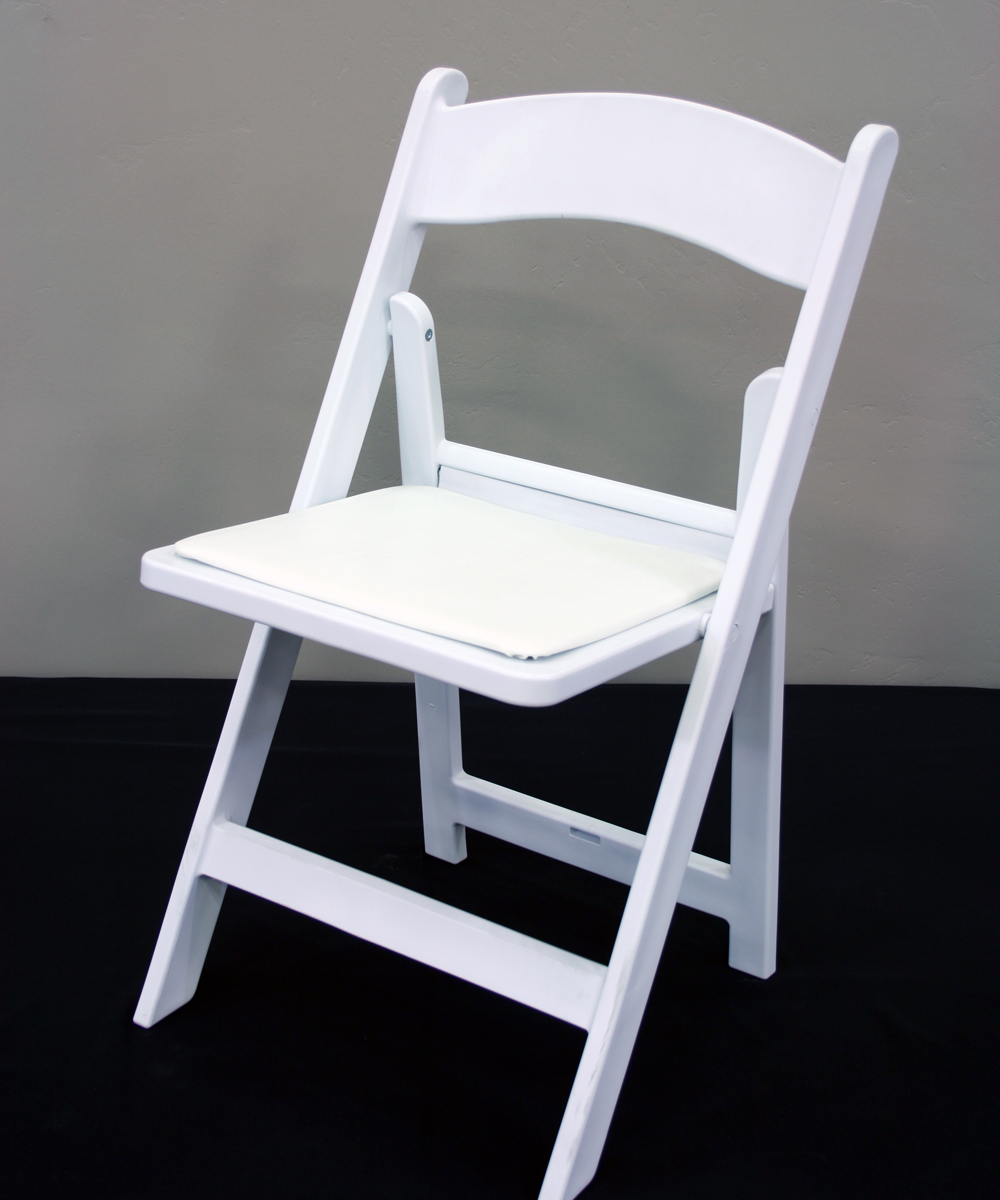 White Wood Resin Chair Walker Lewis Rents